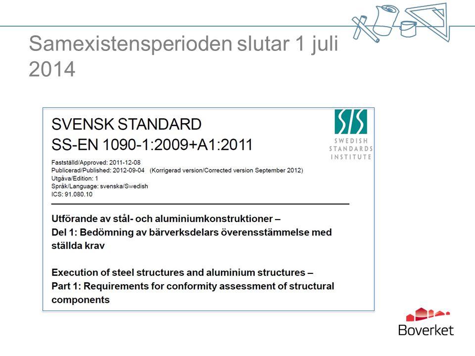 Samexistensperioden slutar 1 juli 2014