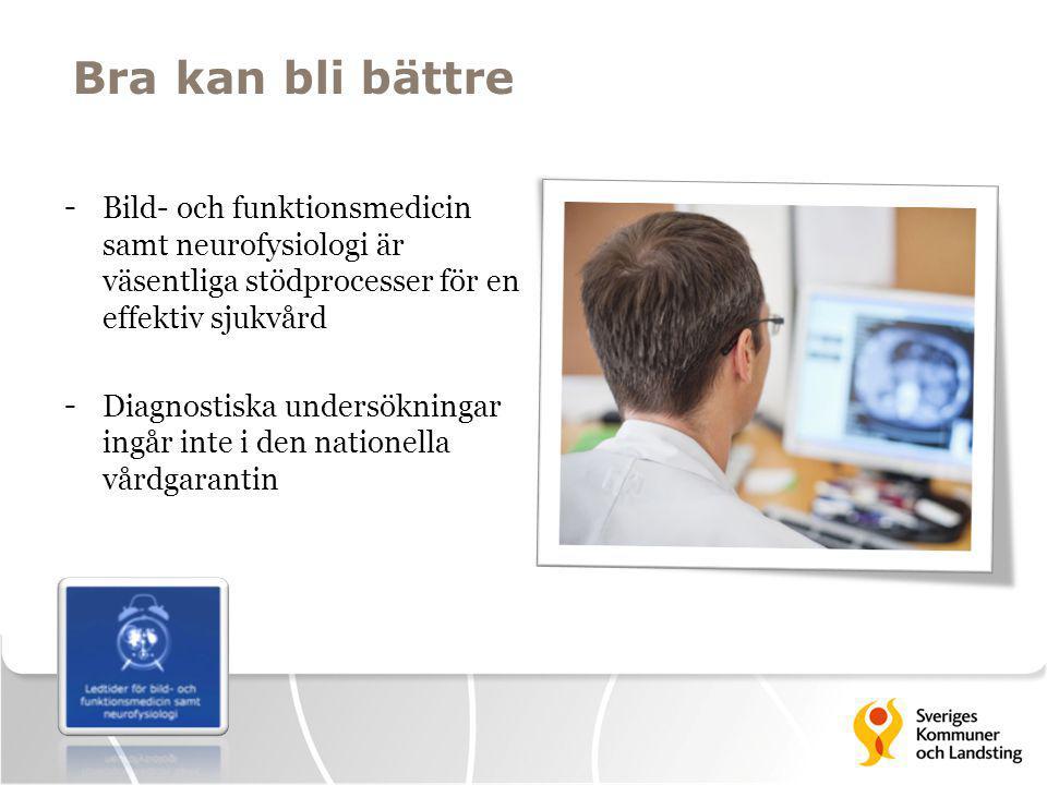 Bra kan bli bättre - Bild- och funktionsmedicin samt neurofysiologi är väsentliga stödprocesser för en effektiv sjukvård - Diagnostiska undersökningar