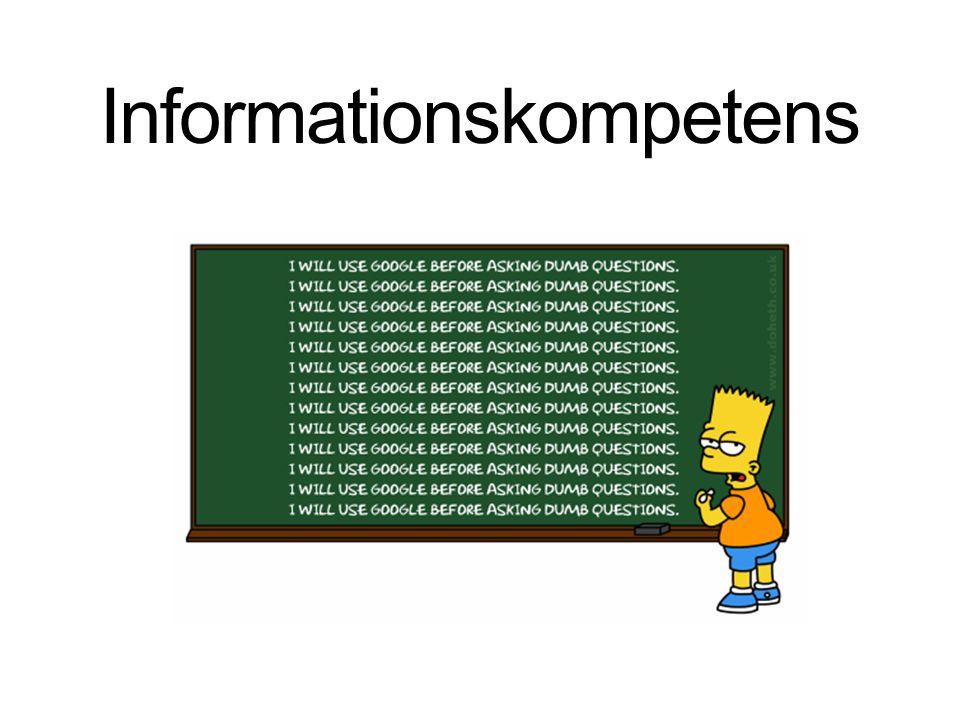 1.Större fokus på källorna utifrån vårt informationsbehov.