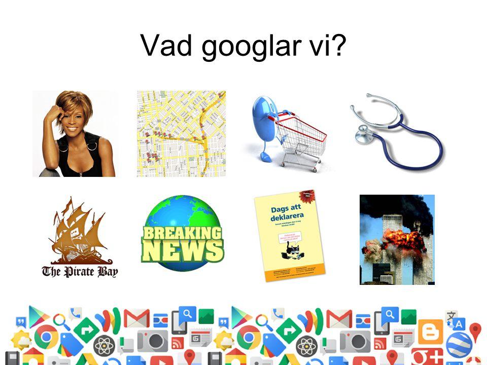 Vad googlar vi?