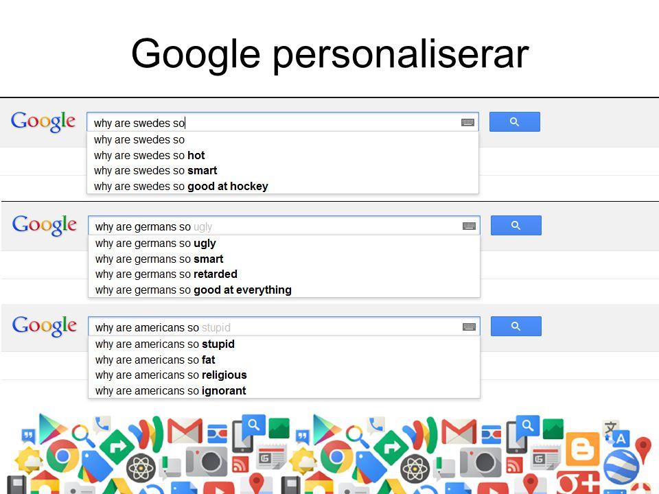 Google personaliserar