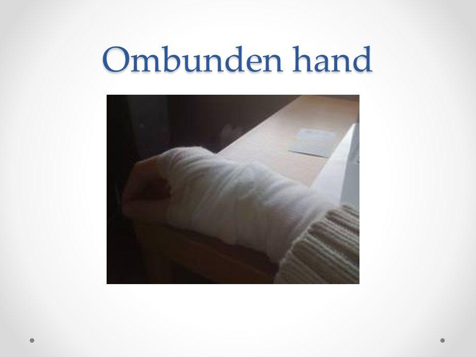Ombunden hand