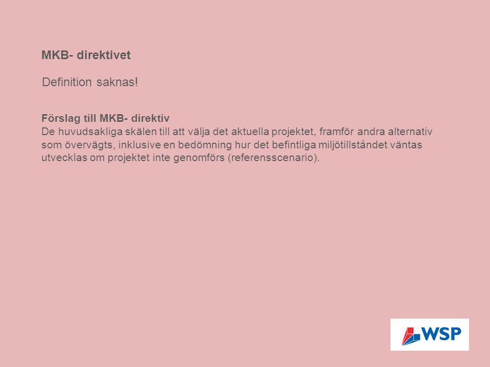 Förslag till MKB- direktiv De huvudsakliga skälen till att välja det aktuella projektet, framför andra alternativ som övervägts, inklusive en bedömnin