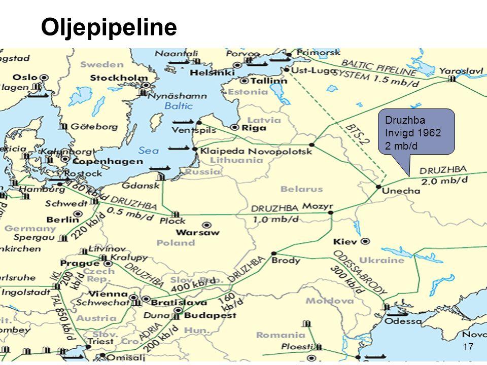 Oljepipeline Druzhba Invigd 1962 2 mb/d 17