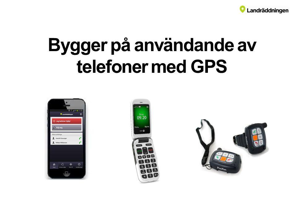Bygger på användande av telefoner med GPS