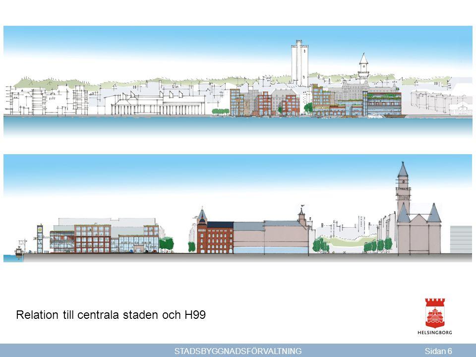 STADSBYGGNADSFÖRVALTNINGSidan 6 Relation till centrala staden och H99