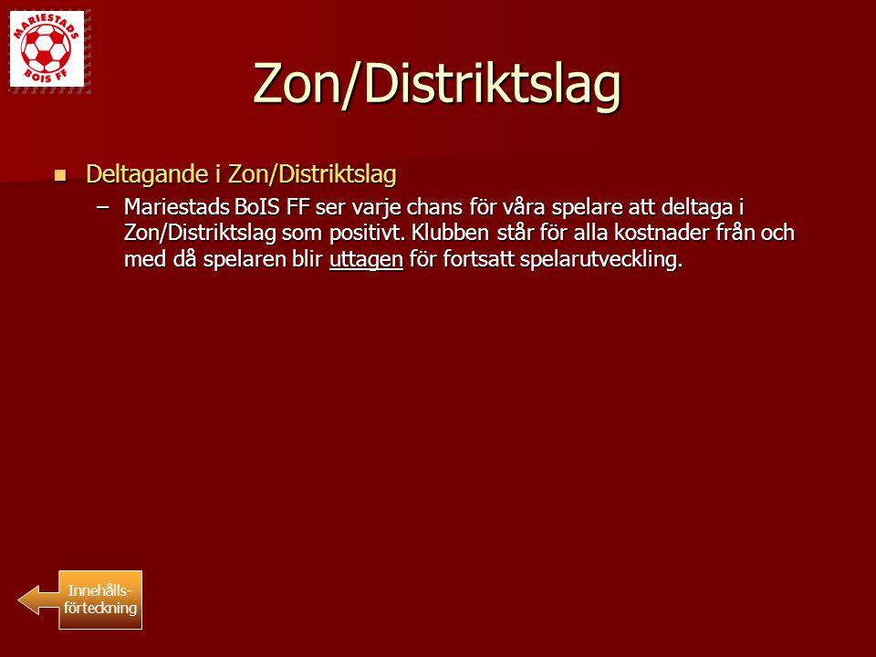 Zon/Distriktslag Deltagande i Zon/Distriktslag Deltagande i Zon/Distriktslag –Mariestads BoIS FF ser varje chans för våra spelare att deltaga i Zon/Di