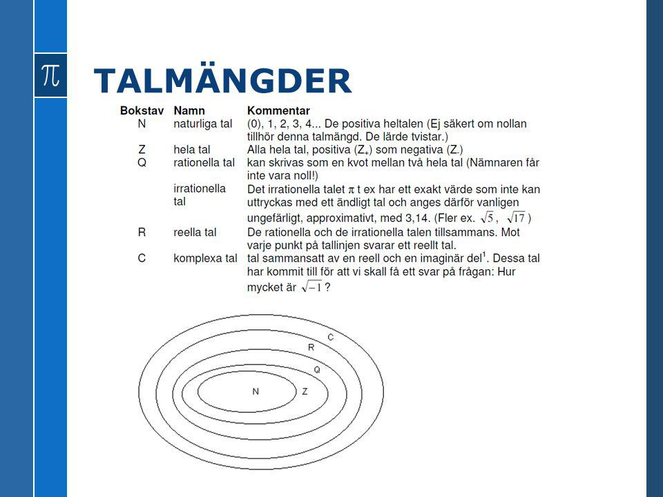 TALMÄNGDER
