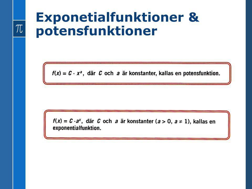 Exponetialfunktioner & potensfunktioner
