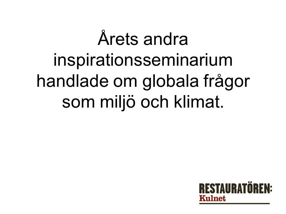 Årets andra inspirationsseminarium handlade om globala frågor som miljö och klimat.