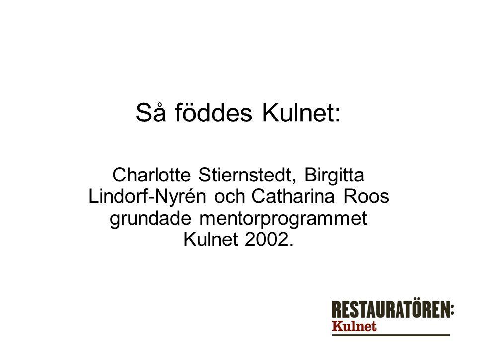 Så föddes Kulnet: Charlotte Stiernstedt, Birgitta Lindorf-Nyrén och Catharina Roos grundade mentorprogrammet Kulnet 2002.