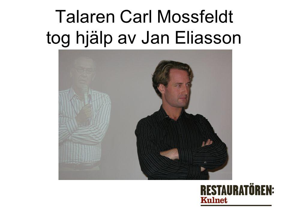 Talaren Carl Mossfeldt tog hjälp av Jan Eliasson