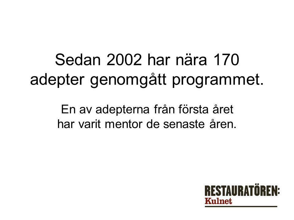 Sedan 2002 har nära 170 adepter genomgått programmet.