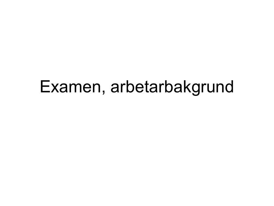 Examen, arbetarbakgrund