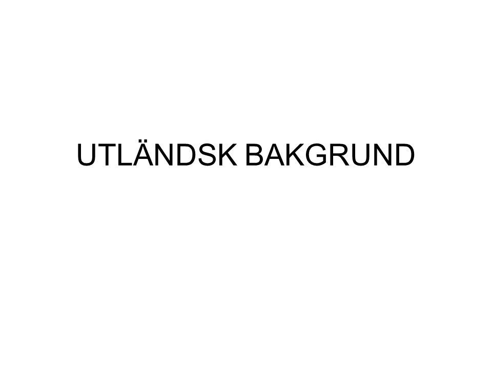 UTLÄNDSK BAKGRUND