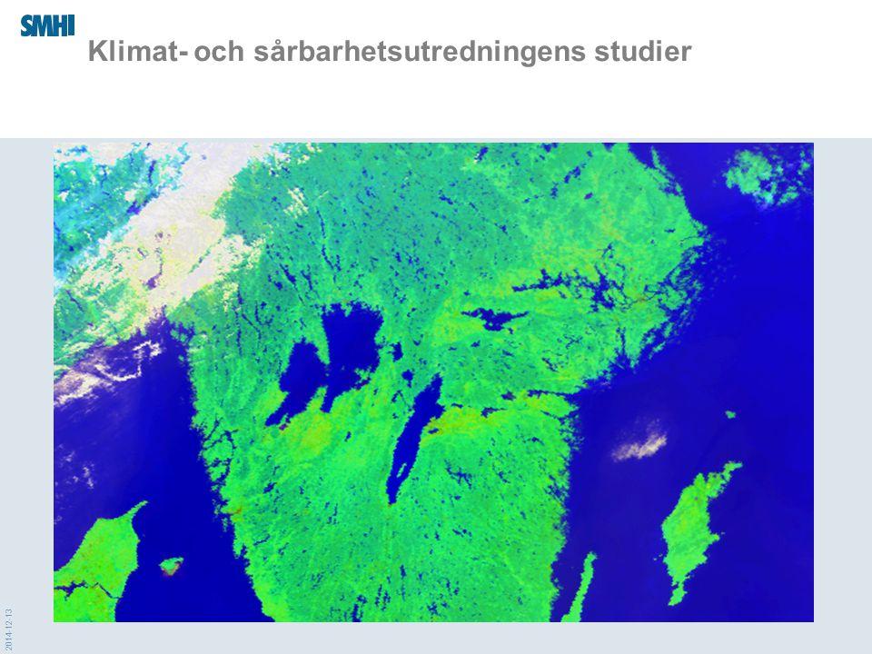 2014-12-13 Klimat- och sårbarhetsutredningens studier