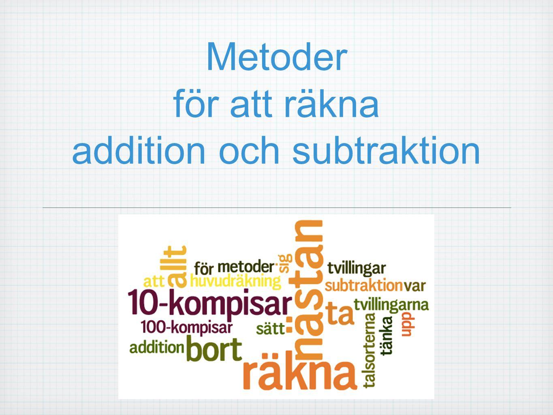 Metoder för att räkna addition och subtraktion