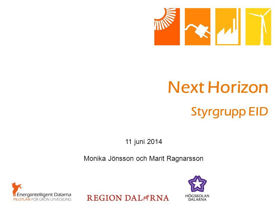 Next Horizon Styrgrupp EID 11 juni 2014 Monika Jönsson och Marit Ragnarsson