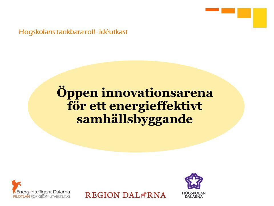 Högskolans tänkbara roll - idéutkast Öppen innovationsarena för ett energieffektivt samhällsbyggande