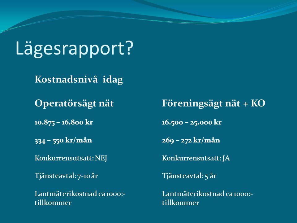 Lägesrapport.