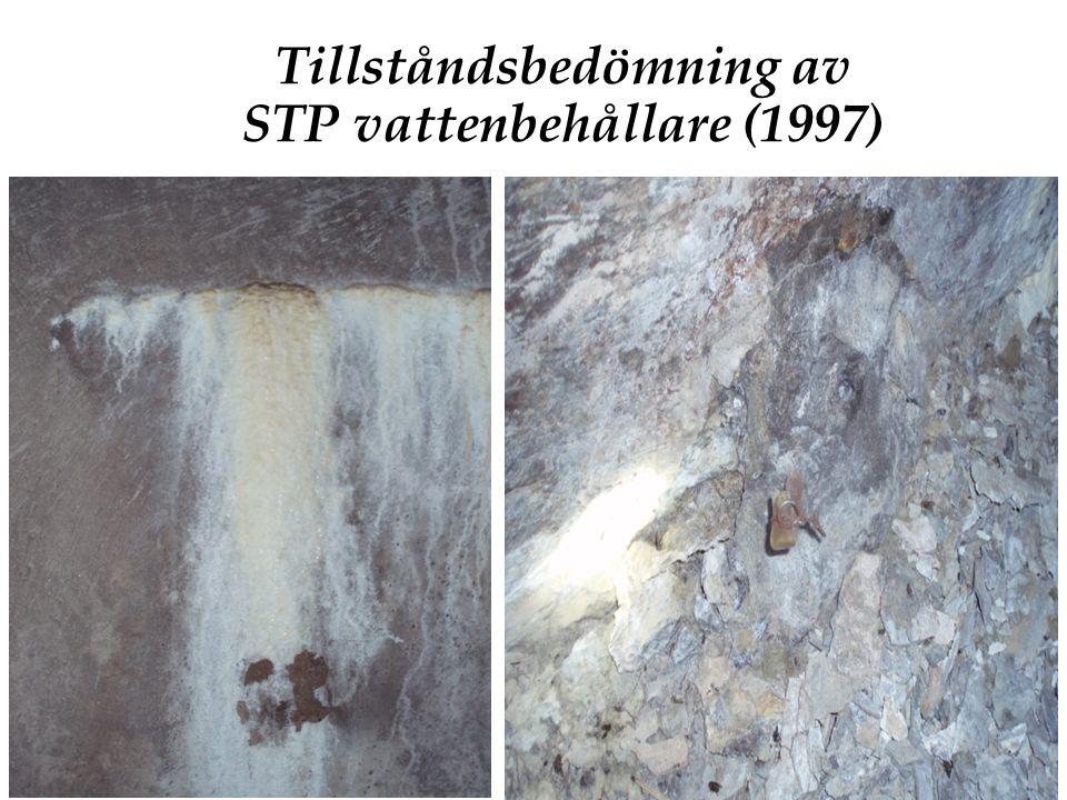 Tillståndsbedömning av STP vattenbehållare (1997)