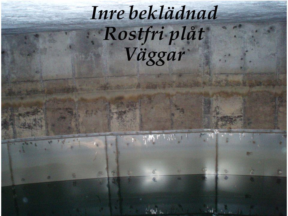 Inre beklädnad Rostfri plåt Väggar