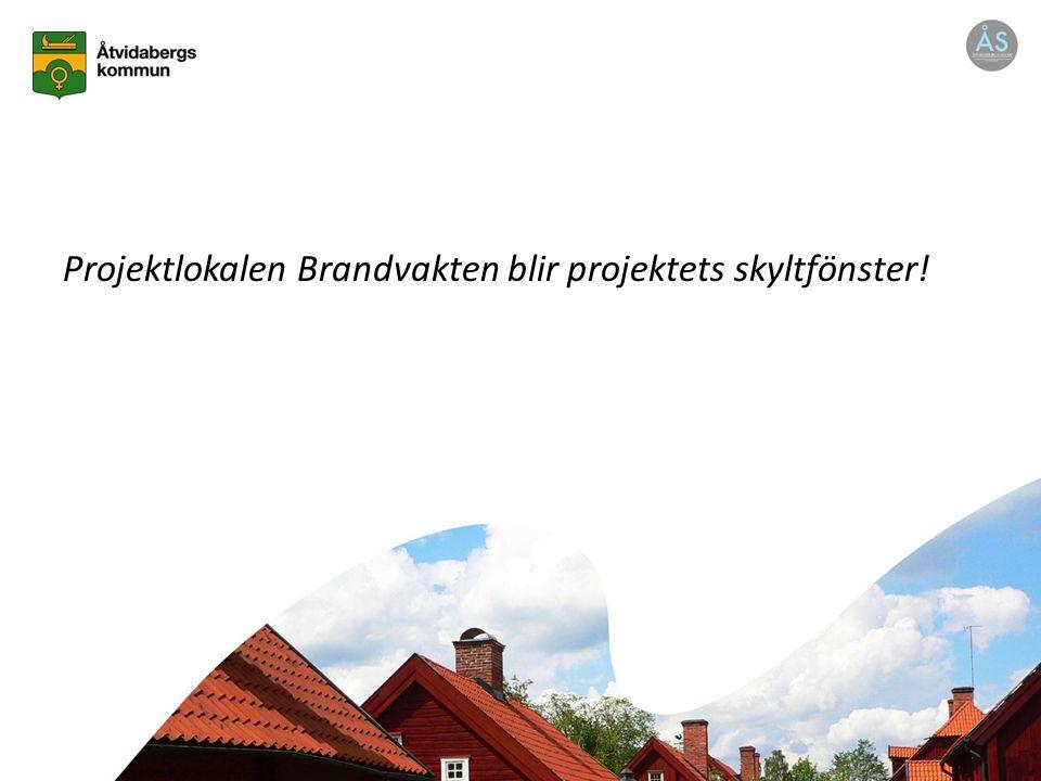 Projektlokalen Brandvakten blir projektets skyltfönster!