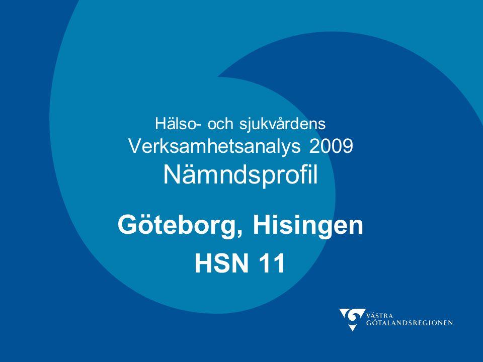 Hälso- och sjukvårdens Verksamhetsanalys 2009 Nämndsprofil Göteborg, Hisingen HSN 11