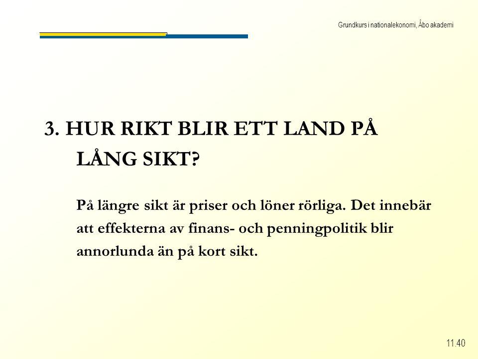 Grundkurs i nationalekonomi, Åbo akademi 11.40 3. HUR RIKT BLIR ETT LAND PÅ LÅNG SIKT.