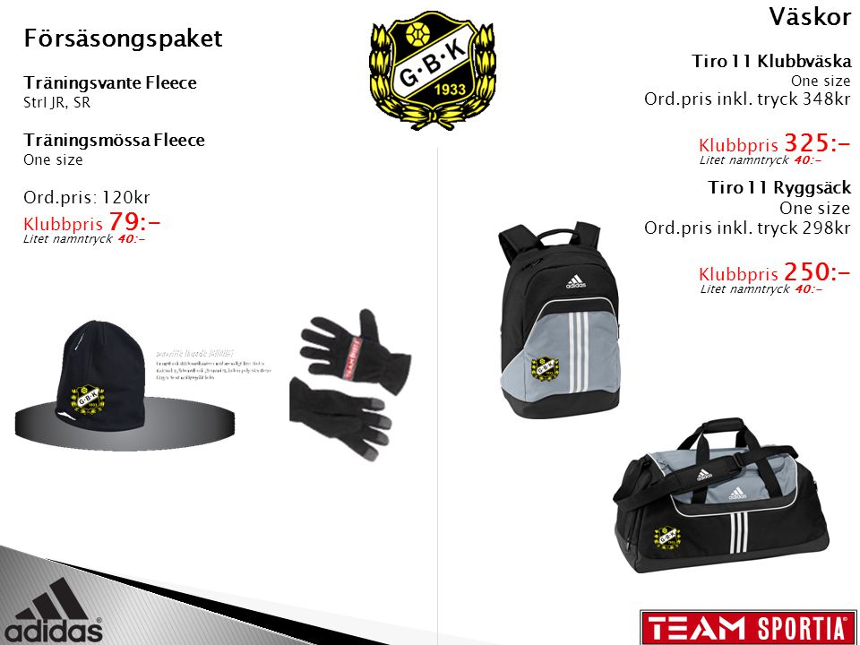 Väskor Tiro 11 Klubbväska One size Ord.pris inkl.