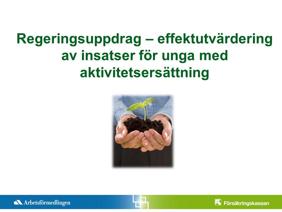 Pre2012-11-12ntationstitel Månad 200X Sida 1 Regeringsuppdrag – effektutvärdering av insatser för unga med aktivitetsersättning
