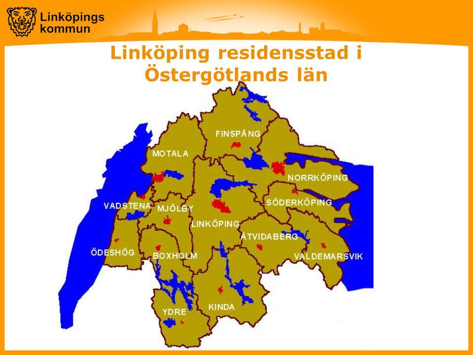 Linköping residensstad i Östergötlands län