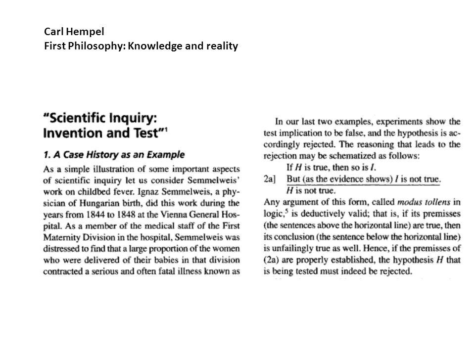 Hypoteser (enligt Carl Hempel) 1.Epidemiska luftföroreningar 2.Överbeläggning 3.Diet 4.Omild behandling 5.Medicinestuderanden 6.Präst 7.Förlossningsställning