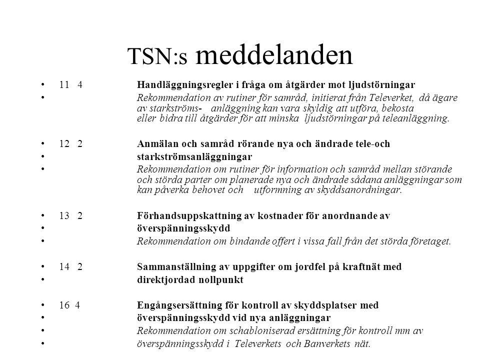 TSN:s meddelanden 7 2 Värdering av båtnad som uppkommer för genom störningsförebyggande åtgärder Rekommendation i princip om fördelning av kostnader f