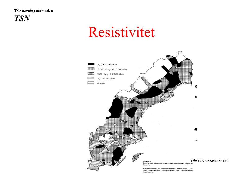 Resistivitet Från IVA Meddelande 183 Telestörningsnämnden TSN