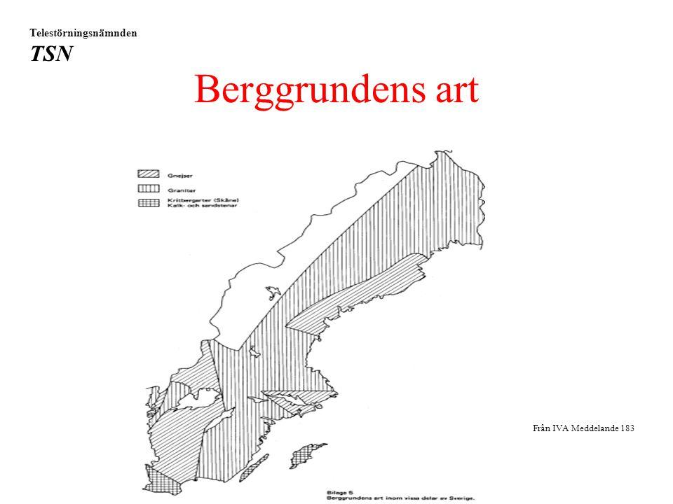 Berggrundens art Telestörningsnämnden TSN Från IVA Meddelande 183