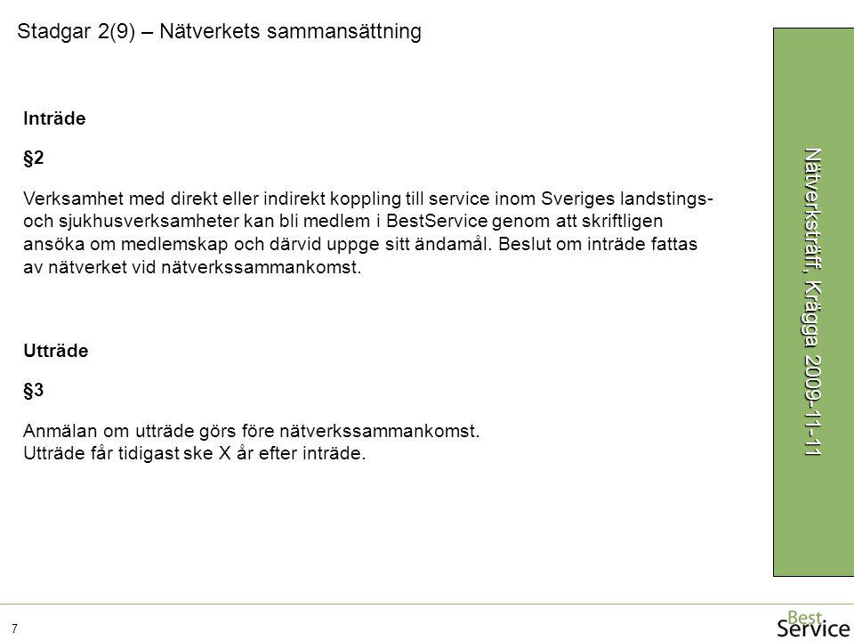Verksamhet med direkt eller indirekt koppling till service inom Sveriges landstings- och sjukhusverksamheter kan bli medlem i BestService genom att skriftligen ansöka om medlemskap och därvid uppge sitt ändamål.