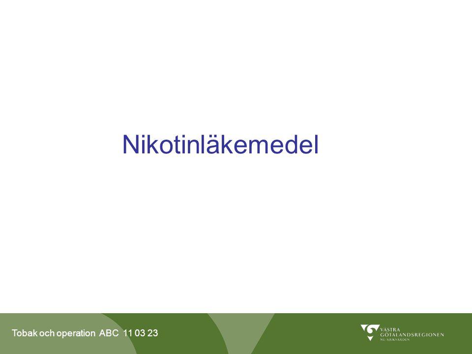 Tobak och operation ABC 11 03 23 Nikotinläkemedel