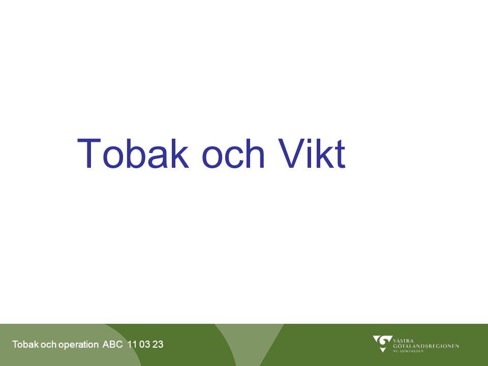 Tobak och operation ABC 11 03 23 Tobak och Vikt