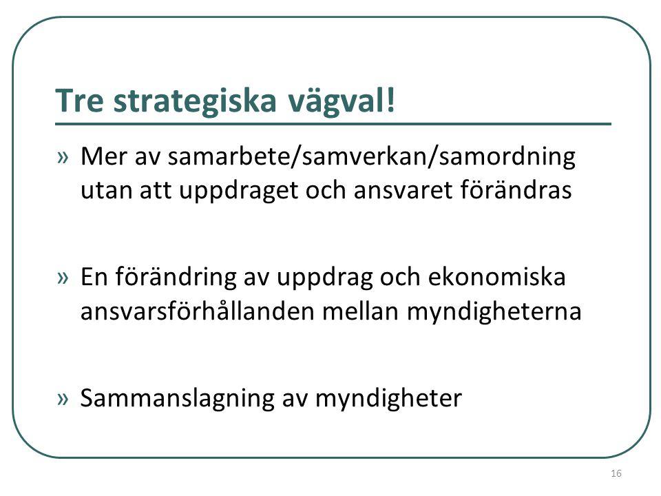 Tre strategiska vägval.