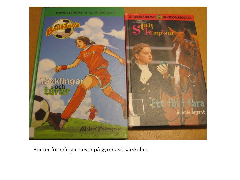Lästrappan är tänkt för att tydliggöra elevernas läsutveckling på gymnasiet.