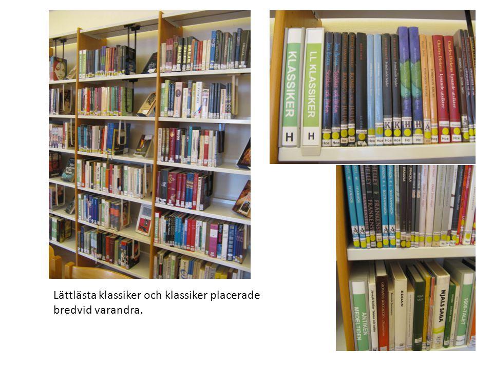 Lättlästa faktaböcker placerade intill de andra lättlästa böckerna.