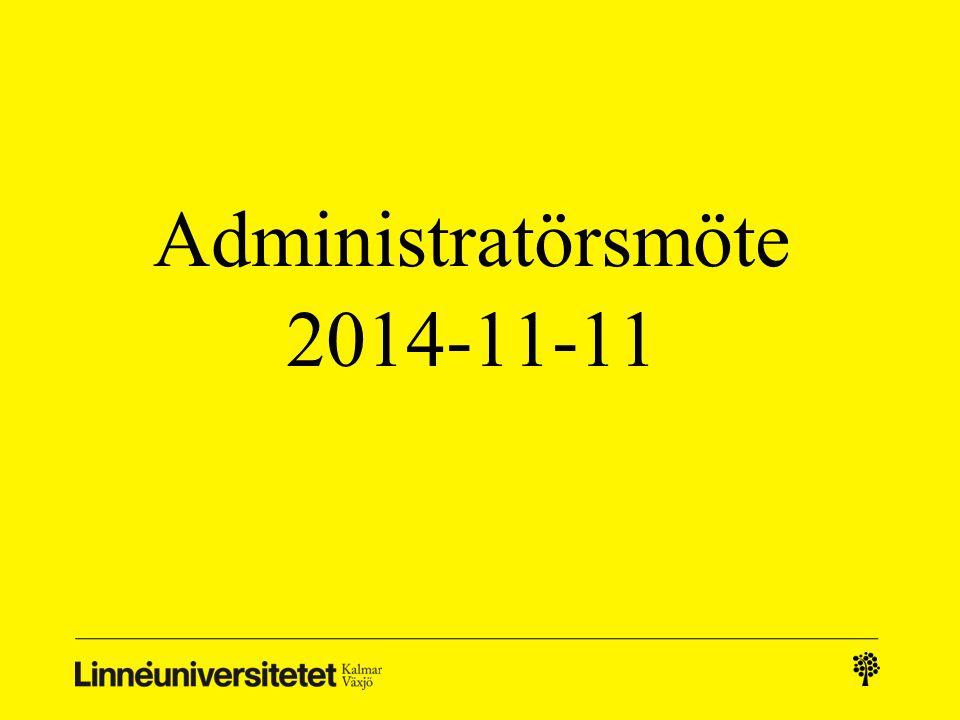 Administratörsmöte 2014-11-11