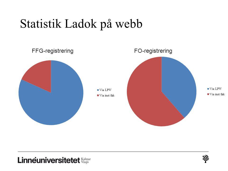 Statistik Ladok på webb FFG-registreringFO-registrering