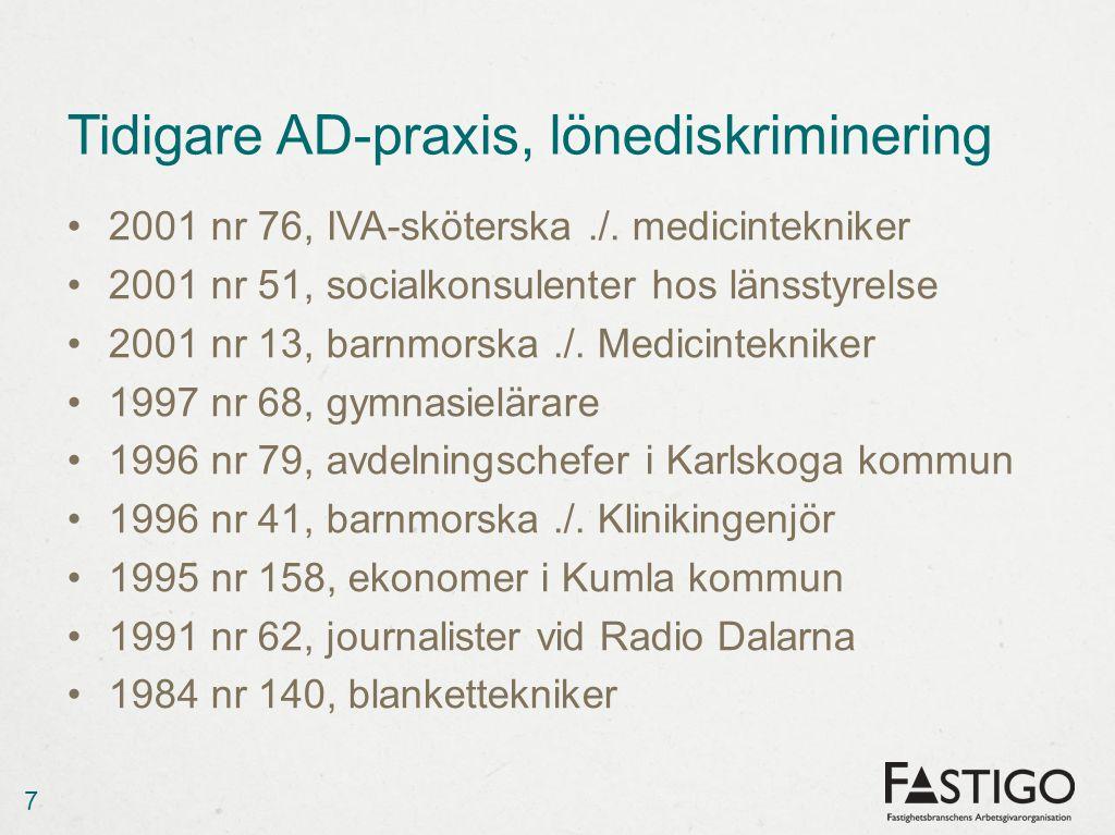 Lönediskriminering Missgynnande Jämförbar situation Orsakssamband Löneskillnad vid nyanställning - vad är marknad.