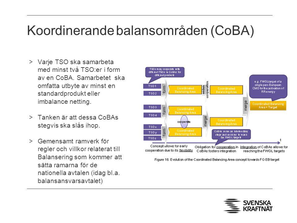 Koordinerande balansområden (CoBA) >Varje TSO ska samarbeta med minst två TSO:er i form av en CoBA.