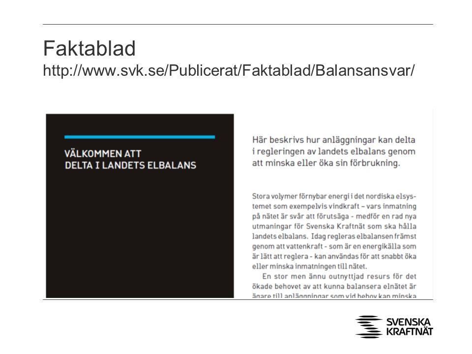 Faktablad http://www.svk.se/Publicerat/Faktablad/Balansansvar/