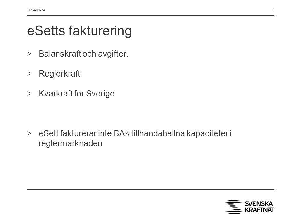 Gränssnittet för BA i planeringsskedet >Planer och bud till reglermarknaden rapporteras som förut >Utredning sker på systemlösning för bilateral handel >Utredningen ska starta om när BA ska gå över till XML-format för planeringsinformation 2014-09-2410