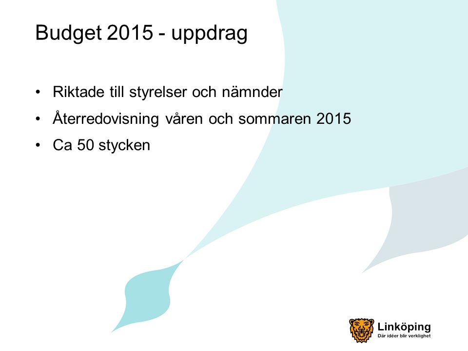 Budget 2015 - Observandum HVB samt familjehem.Omsorgsnämnden Ekonomiskt bistånd.