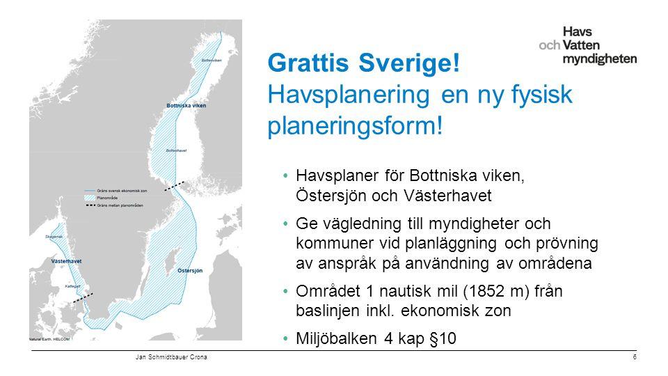 """För att ändra/uppdatera/ta bort """"Presentationsnamn"""" och """"Namn"""" i foten, gå in på """"Infoga - Sidhuvud/sidfot"""" Grattis Sverige! Havsplanering en ny fysis"""